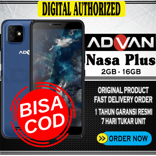 Foto Produk Advan Nasaplus 2GB 16GB Smartphone Android10 Garansi Resmi - deep blue dari Digital Authorized