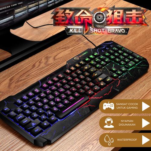 Foto Produk Divipard Keyboard Gaming GK60 Kabel USB 2.0 Plus LED Lightning Numeric dari TokoUsbcom