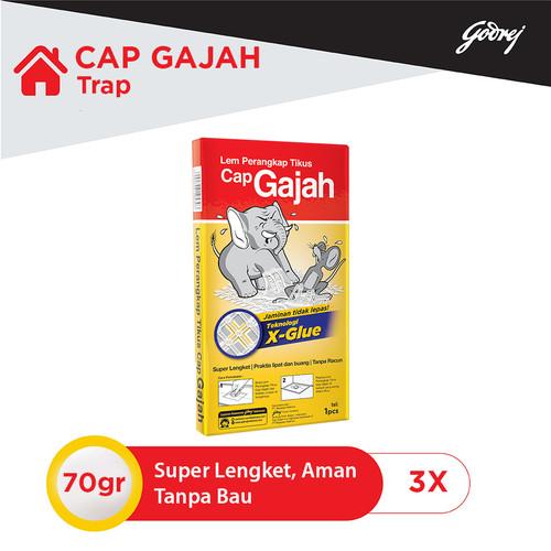 Foto Produk LEM TIKUS TRAP CAP GAJAH 70GR - 3pcs dari Godrej Indonesia Store