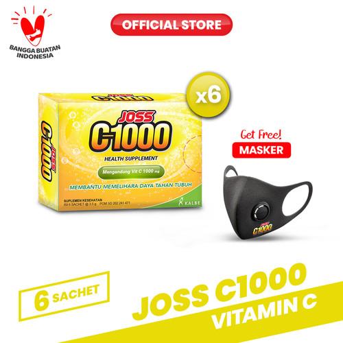 Foto Produk Joss C1000 Vitamin C 6 Pack (36 sachet) FREE Masker dari Bintang Toedjoe Official