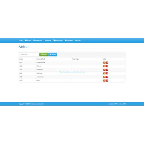Foto Produk Source Code Data Mining Klasifikasi KNN dari Rumah Source Code