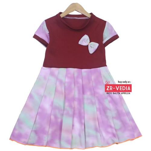Foto Produk Dress Karin uk 4-5 Tahun / Baju Lengan Anak Perempuan Harian Pergi - Motif Random dari ZR-Vedia