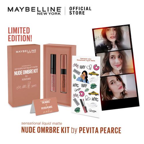 Foto Produk Maybelline Sensational Liquid Matte Ombre Kit by Pevita Pearce - Nude dari Maybelline Official Shop