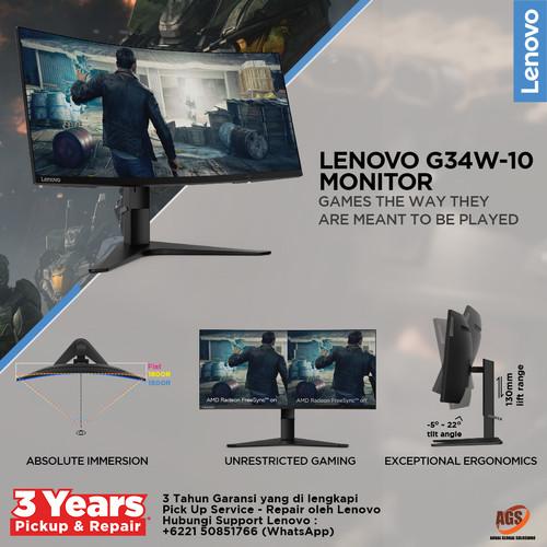 Foto Produk Lenovo Monitor Gaming G34w-10 dari Myclub