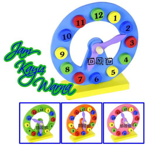 Foto Produk Mainan Edukatif / Edukasi Anak - Mainan Balok Puzzle Kayu - Jam Kayu dari Toko DnD