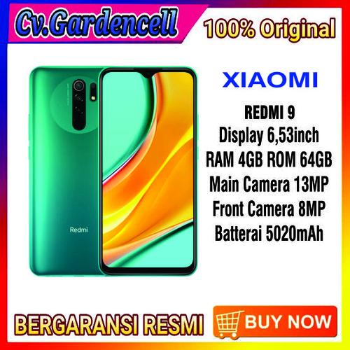 Foto Produk XIAOMI REDMI 9 RAM 4/64GB GARANSI RESMI - Ungu dari Garden Cell Official