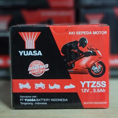 Foto Produk Aki motor Vario 110, Mio Soul GT, Beat, Vixion YUASA YTZ5S Aki Kering dari Langgeng Battery