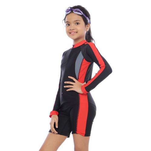 Foto Produk Baju Renang Cowok Anak Tanggung SD-SMP - Merah, M dari joulstore