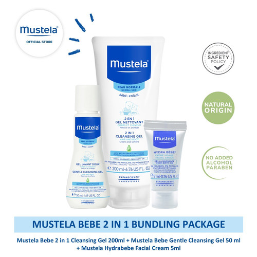 Foto Produk Mustela Bebe 2 in 1 Bundling Package dari Mustela Indonesia