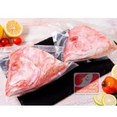 Foto Produk Seafood 22 - Kepala Ikan Kakap Merah 1 pcs Utuh 300-500 gram dari 22 Seafood AMT