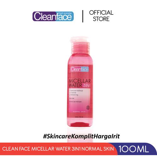 Foto Produk Cleanface Micellar Water 3in1 For Normal Skin - 100 ml dari PURBASARI INDONESIA