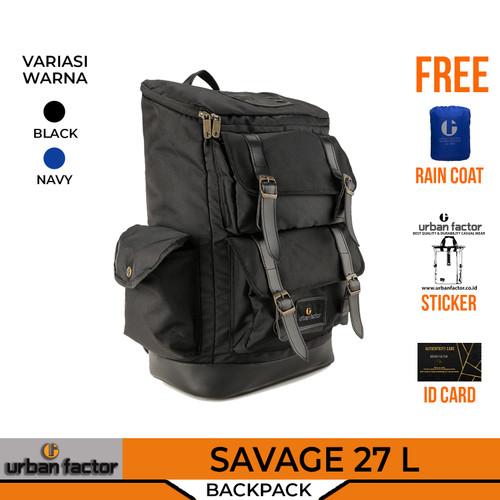 Foto Produk Tas Ransel Punggung Pria Wanita Laptop Urban Factor Backpack SAVAGE - Hitam dari URBAN FACTOR