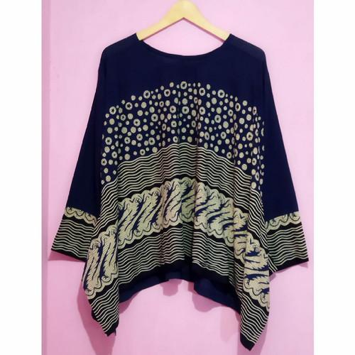 Foto Produk navy blouse batwing batik wanita dari Batik Sri