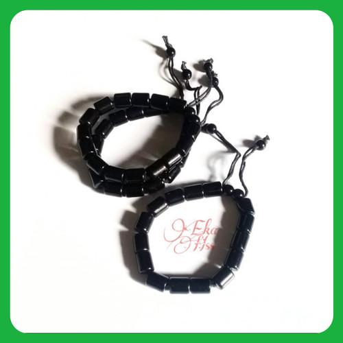 Foto Produk gelang pria wanita hitam dari eka hss