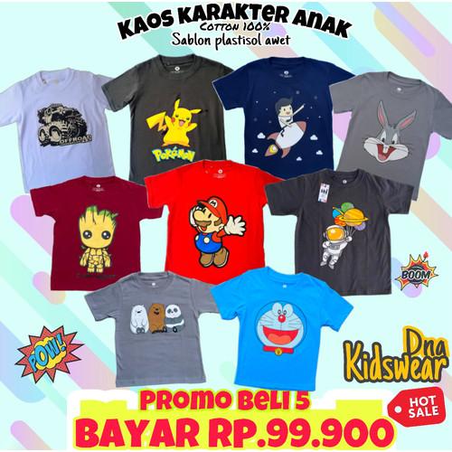 Foto Produk Grosir Baju Kaos Anak Cotton Combed 30s Asli Distro Kualitas Export - S dari Crocokids Store