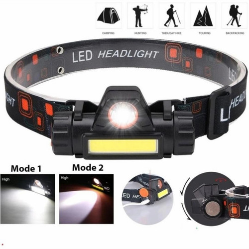 Foto Produk Senter Kepala LED MINI USB Rechargeable - Headlamp Headlight Camping dari Kangtaw Official Store