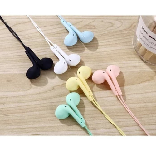 Foto Produk Headset Macaron U19 Stereo Earphone / Handsfree Macaron U19 - Hitam dari SpecialDealShop