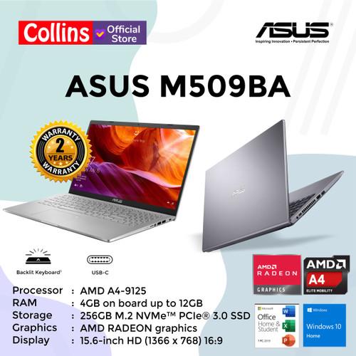 Foto Produk LAPTOP ASUS M509BA - AMD A4-9125 4GB 256GB 15.6″ AMD RADEON W10 OHS dari Collins Official