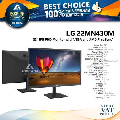 Foto Produk Monitor LED LG 22MN430 22MN430M 22'' 1920x1080 75Hz HDMI dari Abditama Official