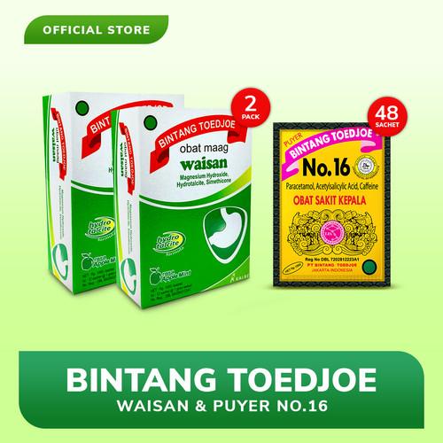 Foto Produk Bintang Toedjoe Obat Maag Waisan 2 Pack & Puyer No.16 2 Pack dari Bintang Toedjoe Official