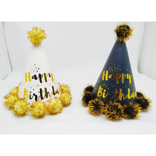 Foto Produk Topi Pesta Ulang Tahun Happy Birthday Premium Onde - Onde Onde dari Chowping Store