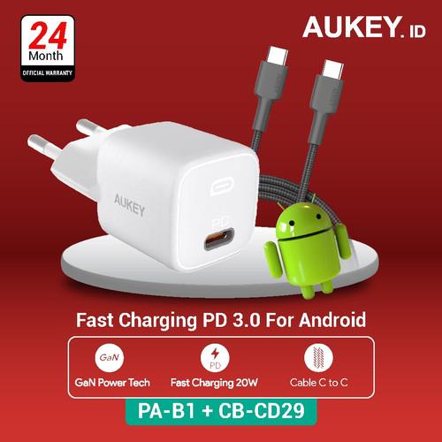 Foto Produk Charger Aukey PA-B1 + Aukey Cable CB-CD29 dari AUKEY