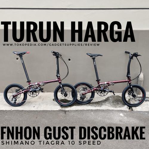 Foto Produk Jual Sepeda Lipat Custom FnHon Gust Baru Jakarta 10 Speed Hollow Mid dari JUALGADGETS