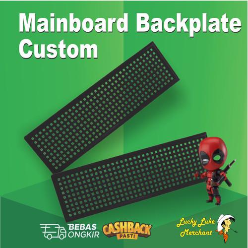 Foto Produk Backpanel Backplate Custom Universal Motherboard Back Panel Back Plate - Putih dari Lucky Luke Merchant