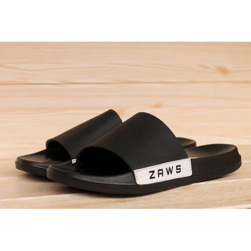 Foto Produk sandal pria/ sandal slide terbaru / sandal distro z awsfootwear/sandal - hitam full, 39 dari zawsfootwear