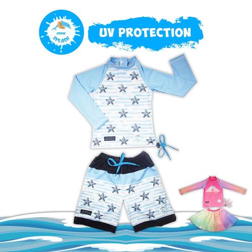 Foto Produk Baju Renang Anak Bayi Perempuan Laki UV Protection KIDDIE SPLASH - Blue Star, XS dari KIDDIE SPLASH INDONESIA
