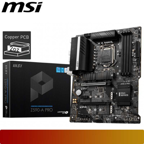 Foto Produk MSI Z590-A PRO | Motherboard Intel Z590 LGA 1200 ATX dari Nano Komputer