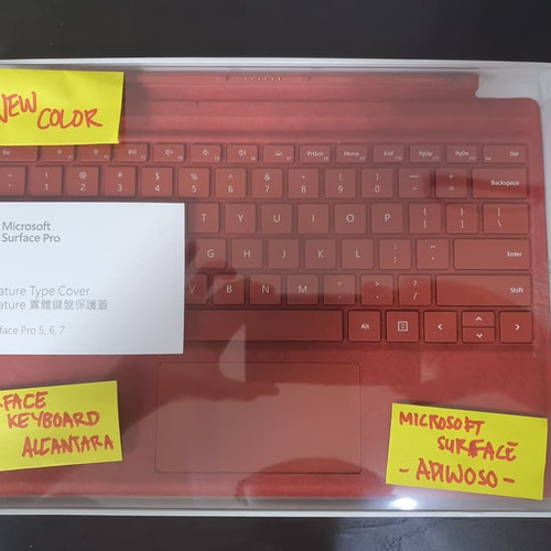 Foto Produk Microsoft Surface Pro Type Cover Alcantara Poppy Red dari Adiwoso