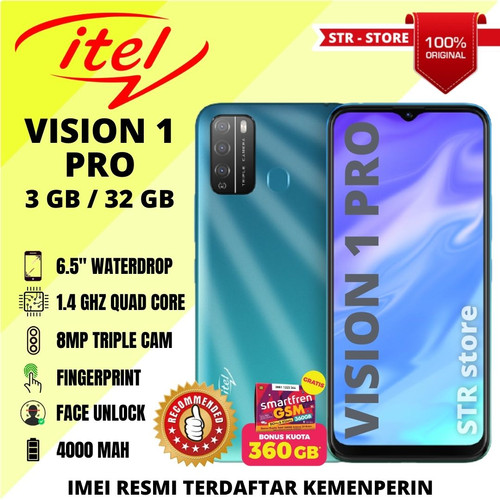 Foto Produk ITEL VISION 1 PRO 3/32 GB 100% ORIGINAL ANDROID MURAH SUBBRAND INFINIX - COSMIC SHINE dari STR-STORE