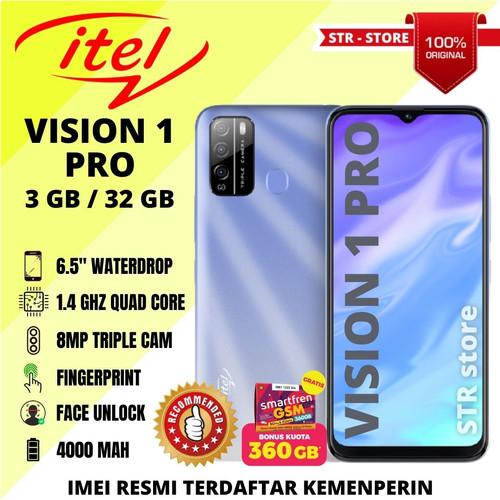 Foto Produk ITEL VISION 1 PRO 3/32 GB 100% ORIGINAL ANDROID MURAH SUBBRAND INFINIX - CRYSTAL BLUE dari STR-STORE