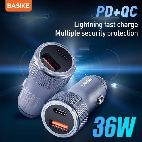 Foto Produk BASIKE Car Charger36W Dual output USB or Type-C Fast charging - BSK-UT76 dari Basike Official Store