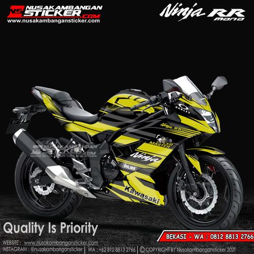 Foto Produk Stiker Ninja Mono Kuning Grafis dari Nusakambangan Sticker01