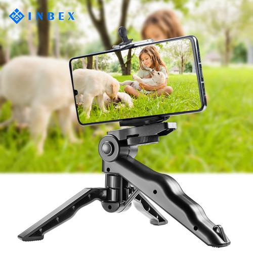 Foto Produk INBEX Mini Tripod hp Kamera Paket VLOG Folding Holder U Portable - 18cm tripod dari INBEX Official Store
