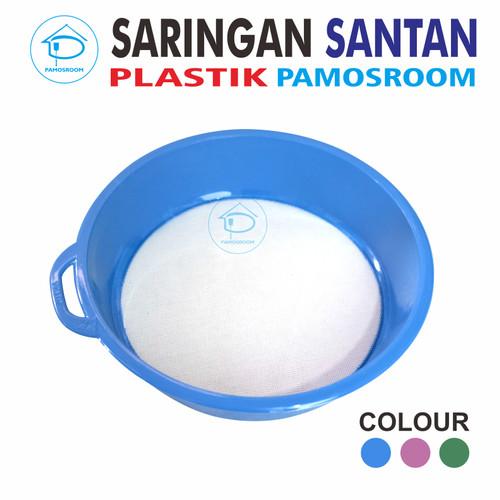 Foto Produk Pamosroom Saringan Santen Santan Kelapa Plastik 22cm Good Quality - Biru dari Pamosroom Living