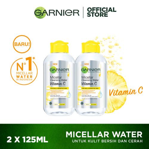 Foto Produk Garnier Micellar Cleansing Water Vitamin C 125 ml Twinpack dari Garnier Official