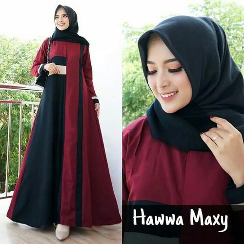 Foto Produk Dress Maxy Haawa Remaja Terkini - Hijau, L dari Noora Fashion Hijab