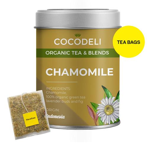 Foto Produk CHAMOMILE | Big Tin | Cocodeli Organic | Teh Hijau Chamomile Lavender dari Haveltea Official Store