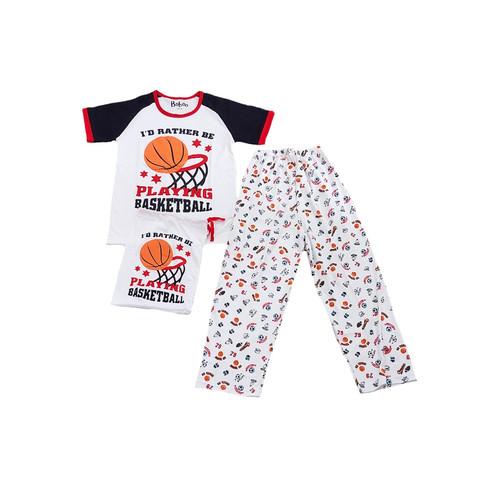 Foto Produk Piyama Anak Short Shirts Playing Basketball SSLP49 - 10 dari Boboo Kids