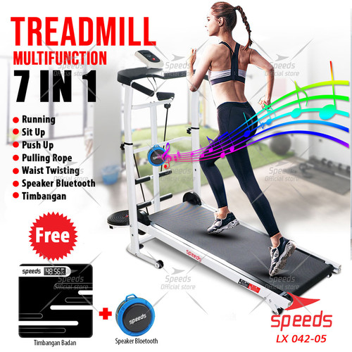 Foto Produk Treadmill Manual Mesin Lari MultiFungsi Treadmill Fitness SPEEDS 042-5 - Treadmill Set dari Speeds Official Store