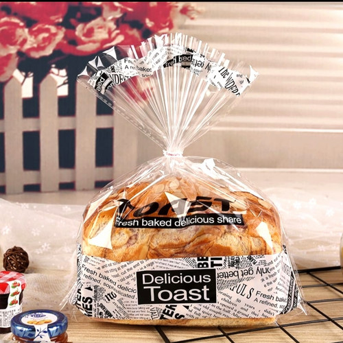 Foto Produk plastik roti tawar roti manis motif unik 1 pack=25lbr(20x30+6cm) - 20x30 dari SHIMIEworld