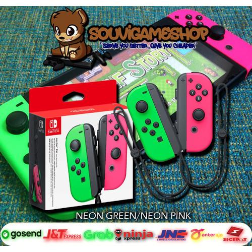 Foto Produk Nintendo Switch / N Switch Joy-Con Joycon Joy Con (Left / Right) WARNA - GREEN PINK dari souvigameshop