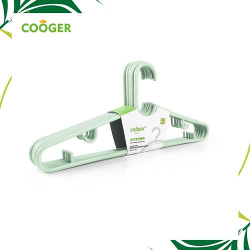 Foto Produk COOGER 5 Pcs Hanger Anti Selip Multifungsi - Hijau dari COOGER Official Store