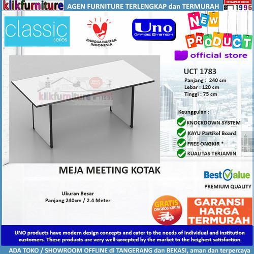 Foto Produk UCT 1783 UNO Meja Kantor Meja Rapat Meja Meeting Segi 240 cm dari klikfurniture