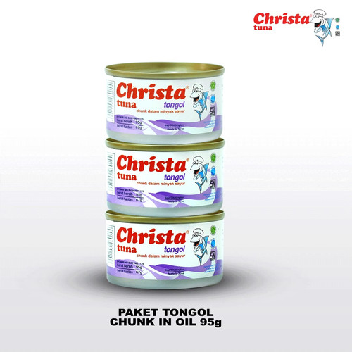Foto Produk Paket isi 3 Christa Tuna Kemasan Kecil -Tuna Tongol dalam Kaleng dari Christa Tuna Official