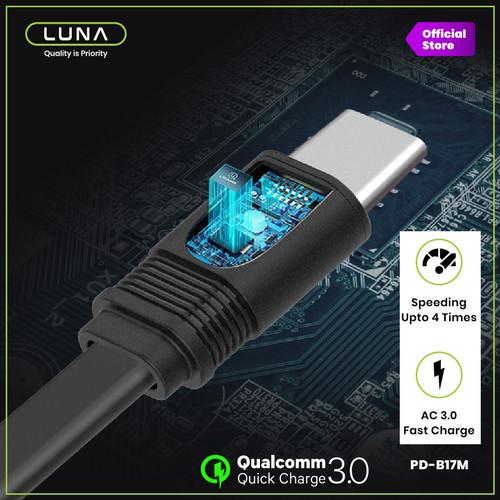 Foto Produk Luna Kabel Data Cable Micro USB Type C Fast Charging 3A VOOC B17 - Model Micro USB, Putih dari Luna Life