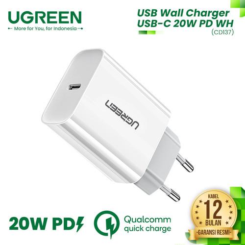 Foto Produk UGREEN USB Wall Charger USB-C 20W PD - CD137 dari UGREEN Authorized Store